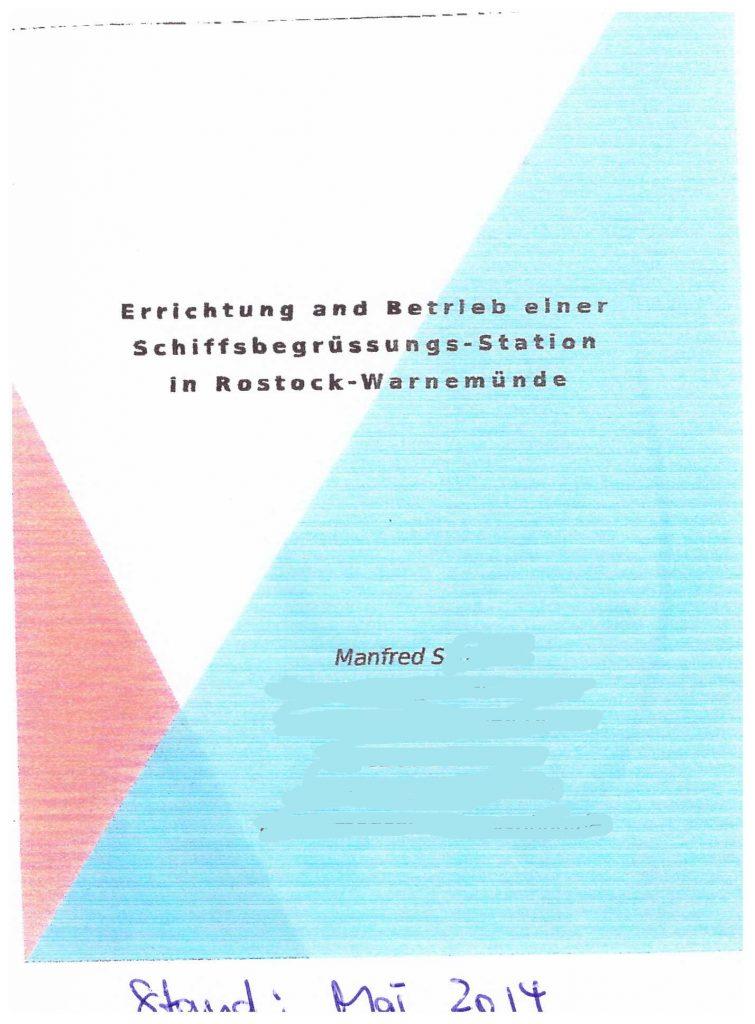 Cover: Konzeptpapier Schiffsbegrüßungs-Station