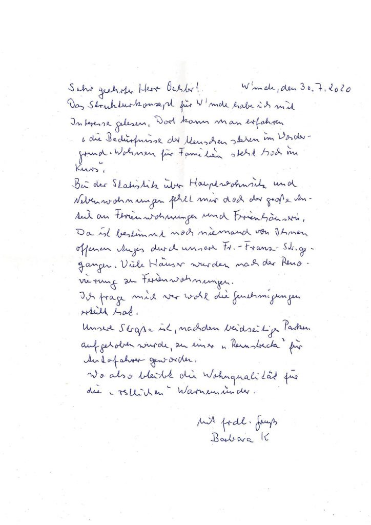 Brief von Barbara K.