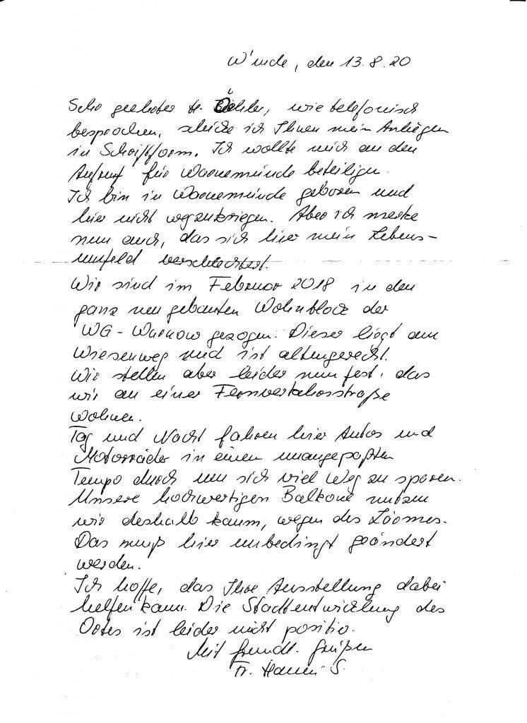 Brief von Hanni S.