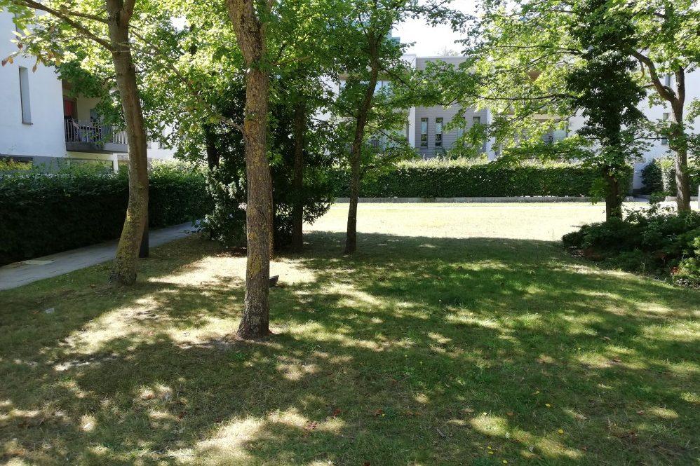 Foto: Grüner Blockinnenbereich