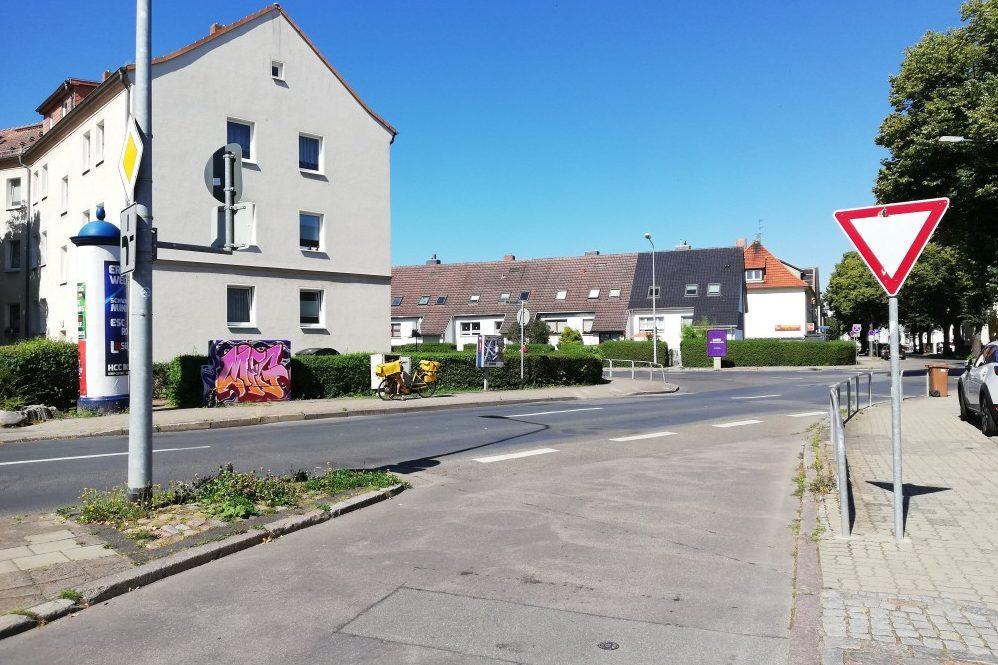 Foto: Ecke Schwarzer Weg, Alte Bahnhofstraße, Rostocker Straße