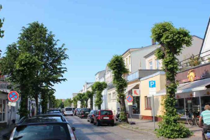 Foto: Straßenraum Friedrich-Franz- Straße