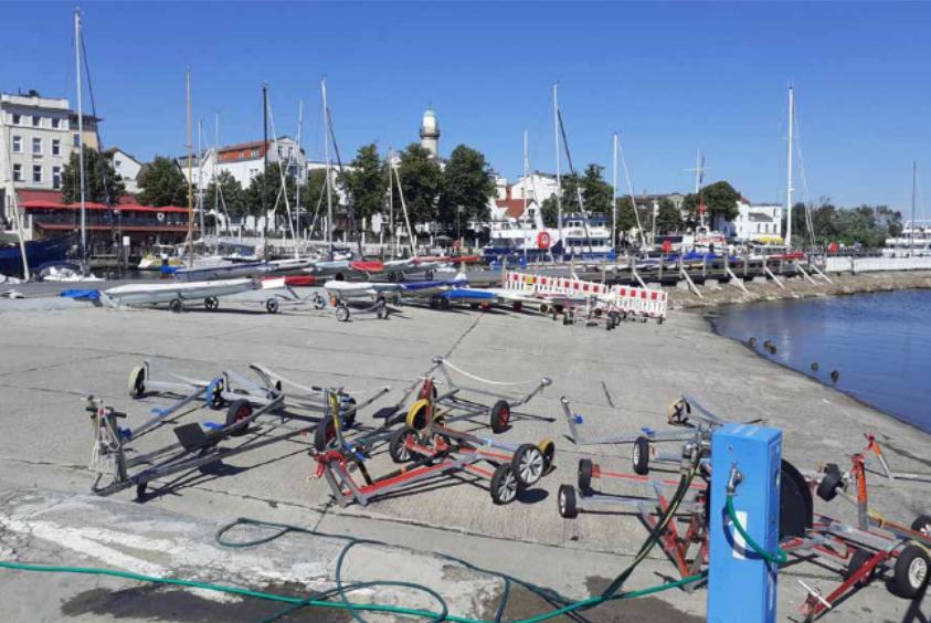 Foto: Slipanlage Segelboote