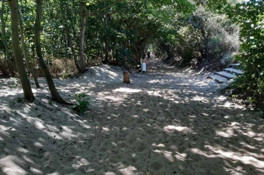 Foto: Strandzugang, nicht barrierefrei