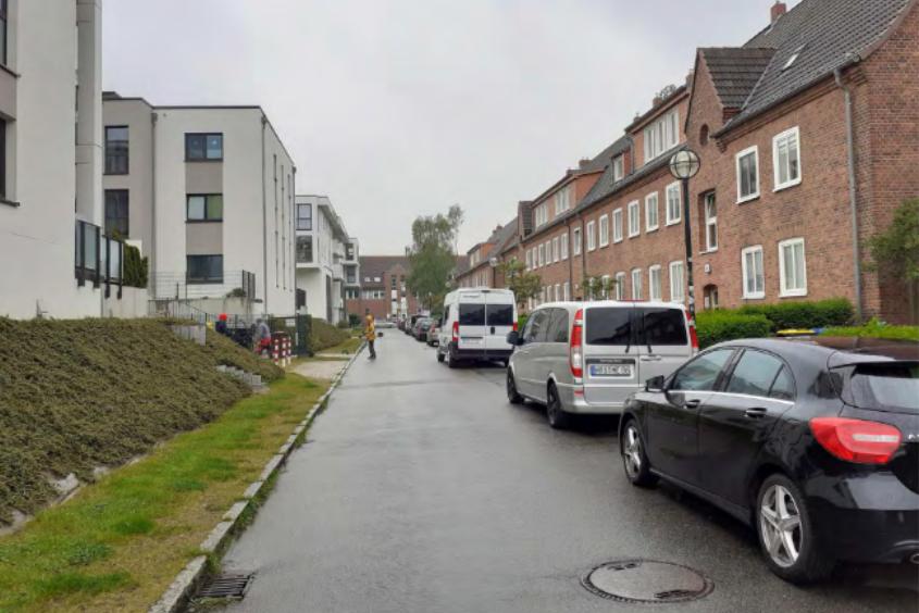 Foto: Alte und neue Bebauung Lortzingstraße