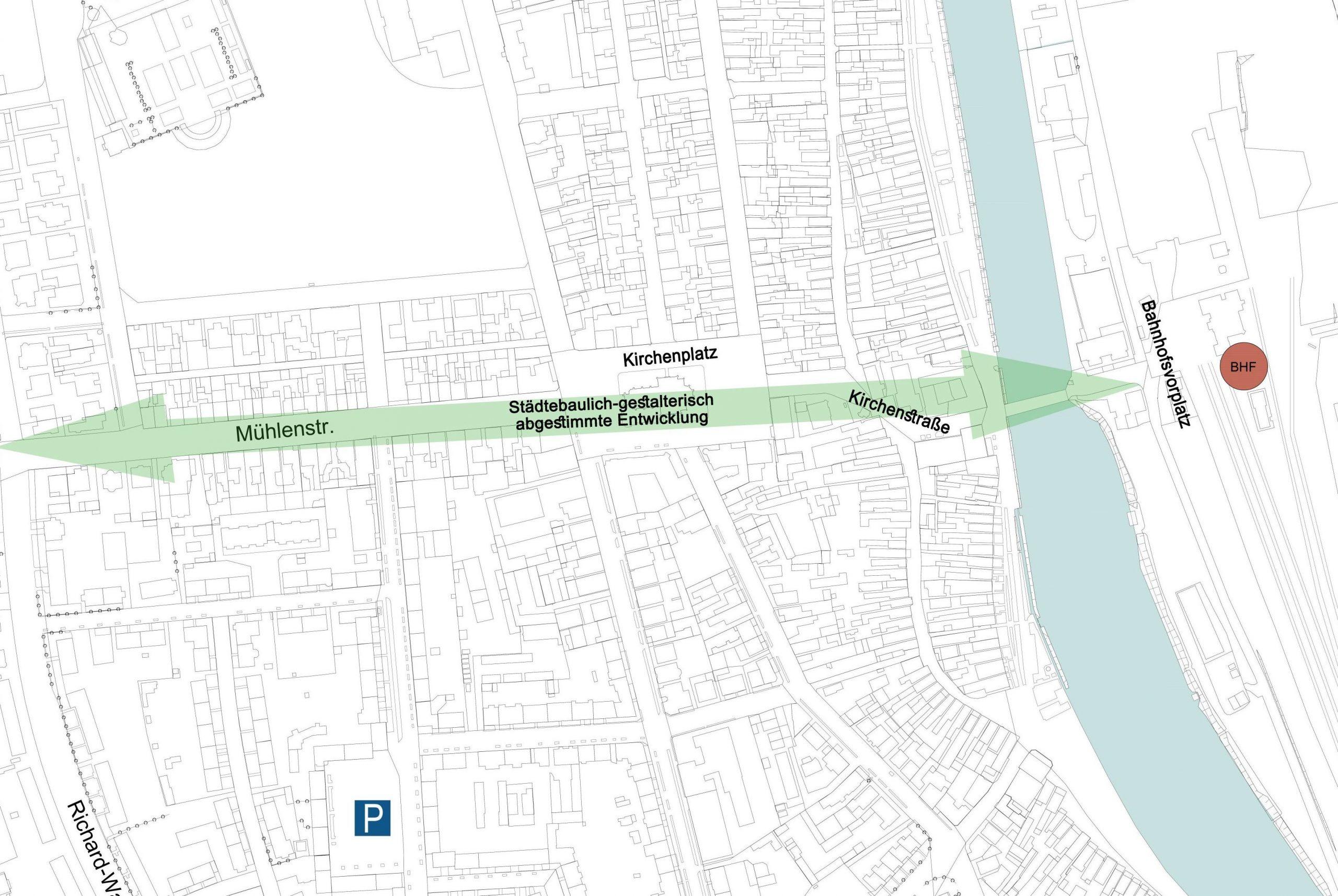 Lageplan Achse Mühlenstraße-Mole